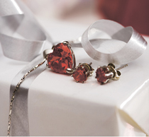 red gemstones valentines day sweetheart
