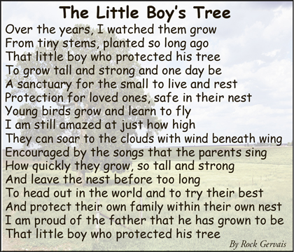 poem tree father son